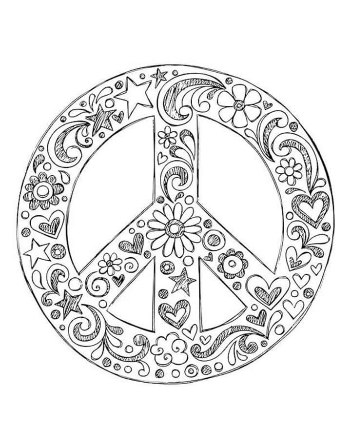 peace sign coloring page – liknes.co