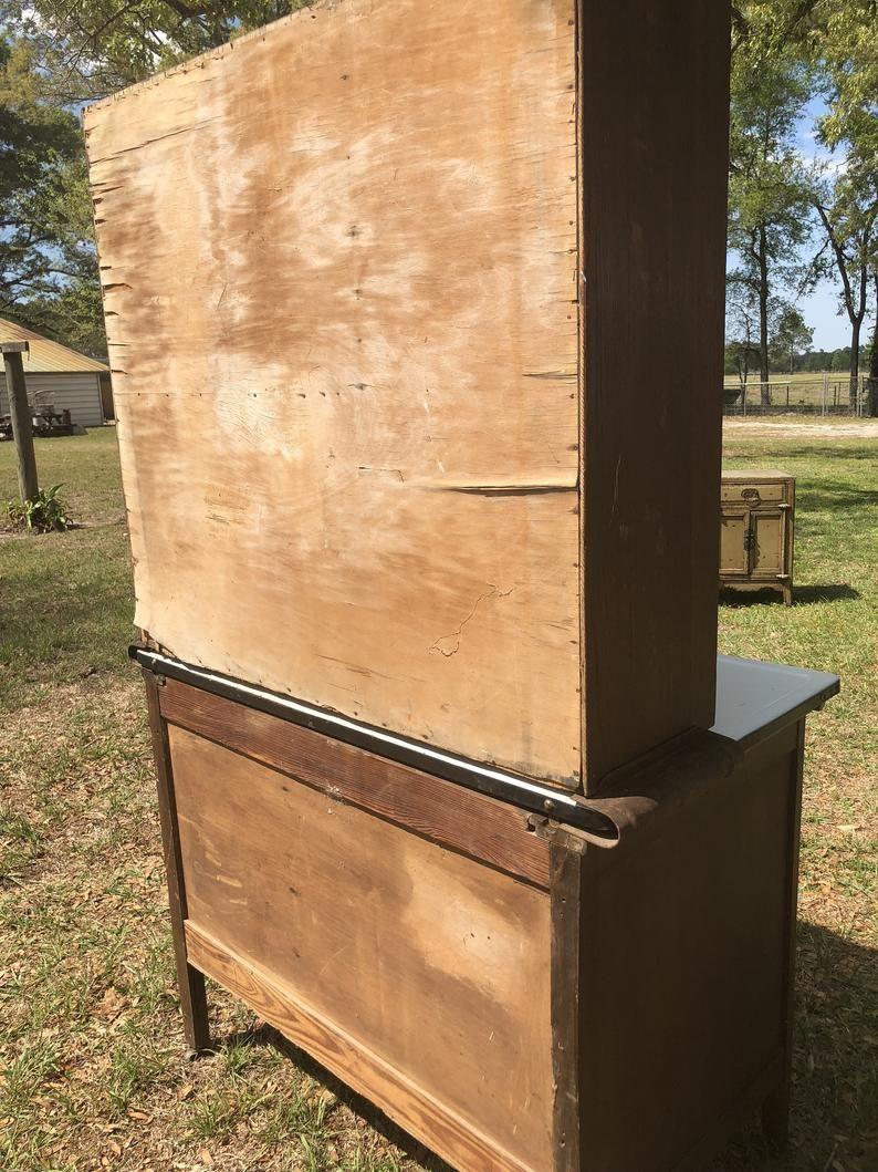 Vintage hoosier cabinet Wilson kitchen cabinets wood ...