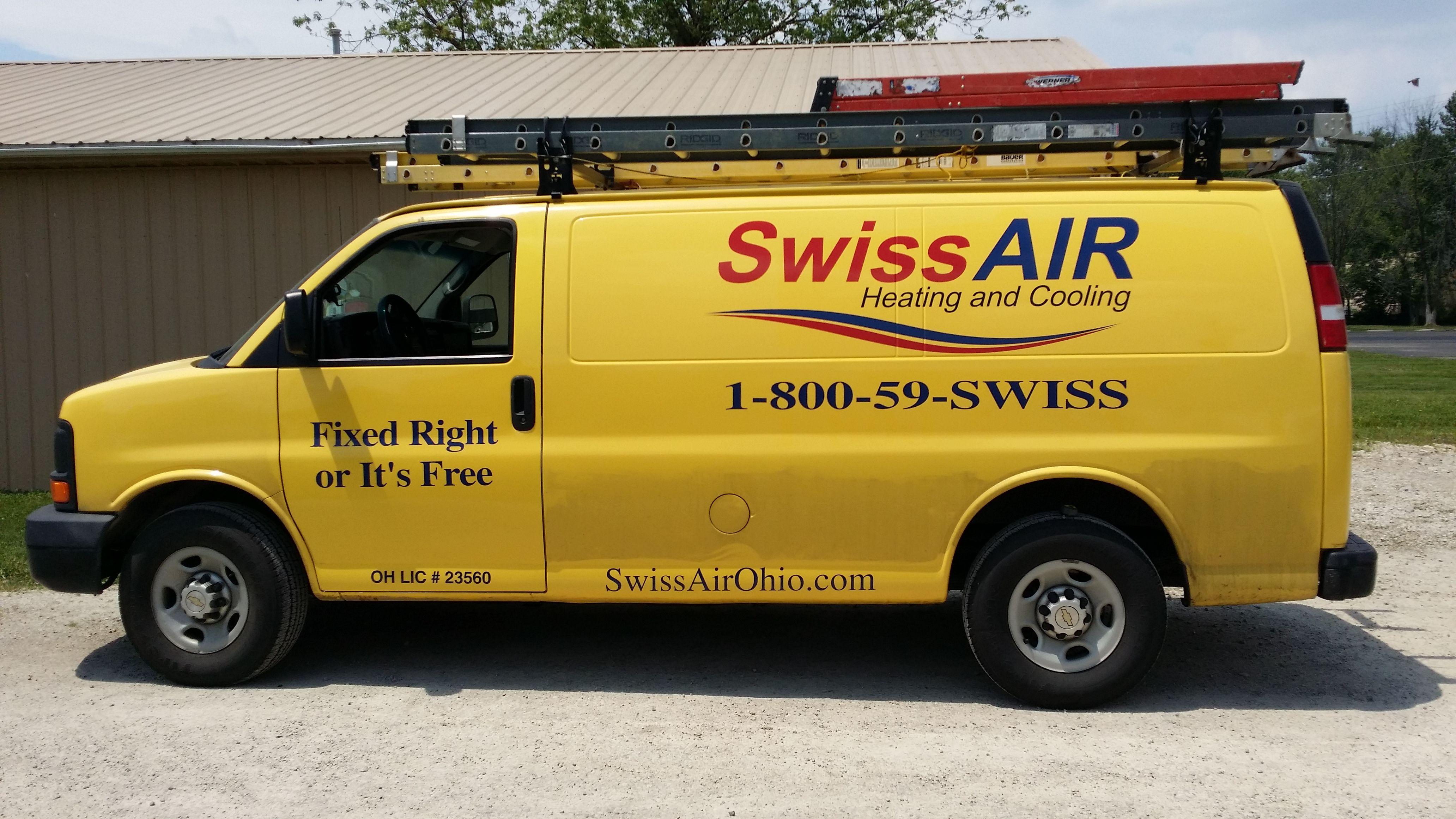 Swiss Air Van Swiss Air Mobile Marketing Logos Design