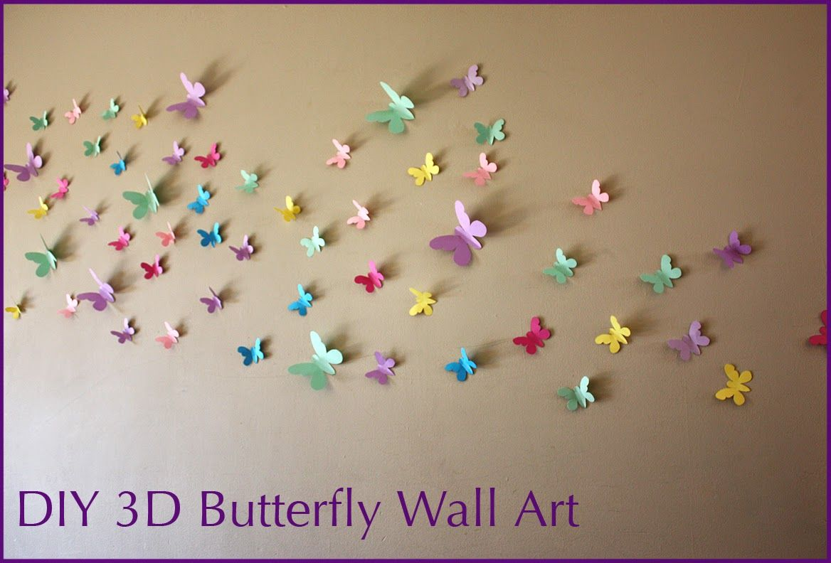 Moomama Diy 3d Butterfly Wall Art With Free Templates Butterfly Wall Art 3d Butterfly Wall Art Butterfly Wall Art Diy