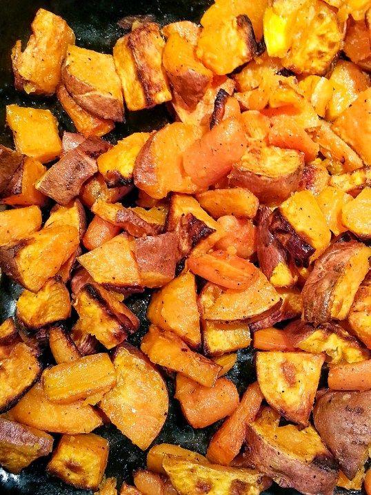 Lisa's Roasted Carrots and Sweet Potatoes