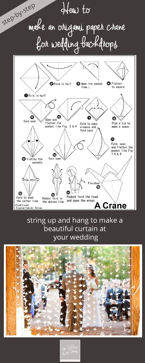 How To Make Origami Paper Cranes For Wedding Backdrops Step By Crane Diagram Copy