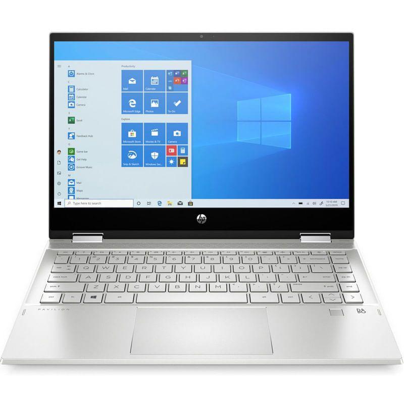 Notebook Hp 14 Core I7 1065g7 8gb 512gb Ssd Pavilion X360 En 2021 H P Lector De Huella Digital Almacenamiento De Datos