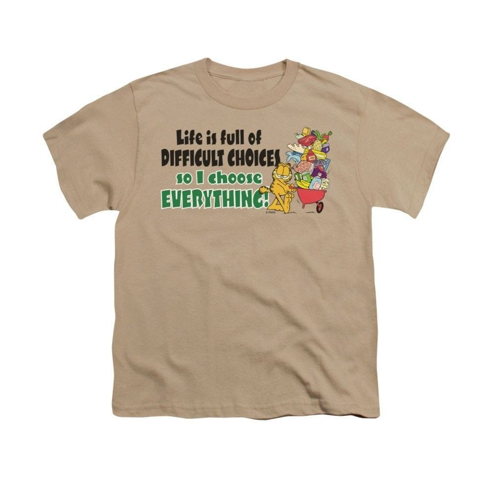 Garfield - Difficult Choices Youth T-Shirt