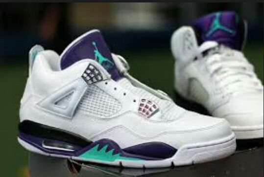 hot sale online 0d79e 8552e Grape 4s Air Jordan Iv, Jordan Shoes, Custom Sneakers, Custom Shoes, Retro