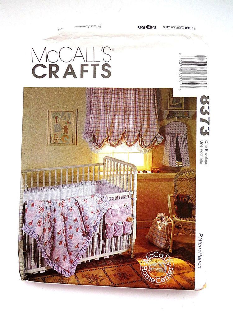 McCalls Baby NURSERY Accessories Sewing Pattern 8373 Uncut Factory ...