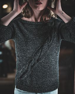 Nephele is the perfect addition to your capsule wardrobe. Hip-length and a tad bit boxy, this sweater works with jeans just as well as over your spring dress for layering on brisk evening walks.