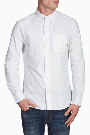 e83c198581df Buy Long Sleeve Oxford Shirt from the Next UK online shop ...
