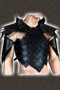 male leather armour
