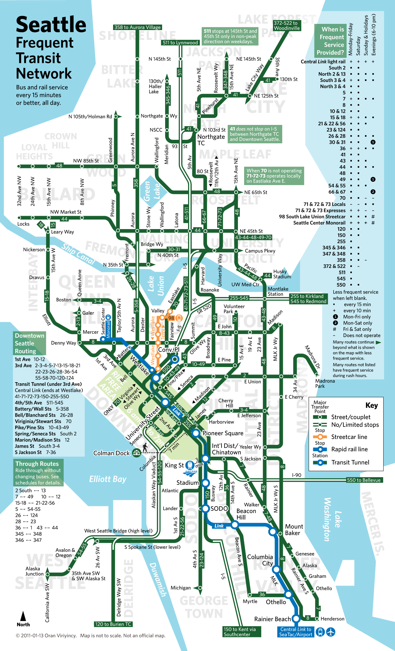 Pin canadian national railroad map on pinterest - Everything You Need To Know About Seattle S Public Transportation Collected In A Single Map