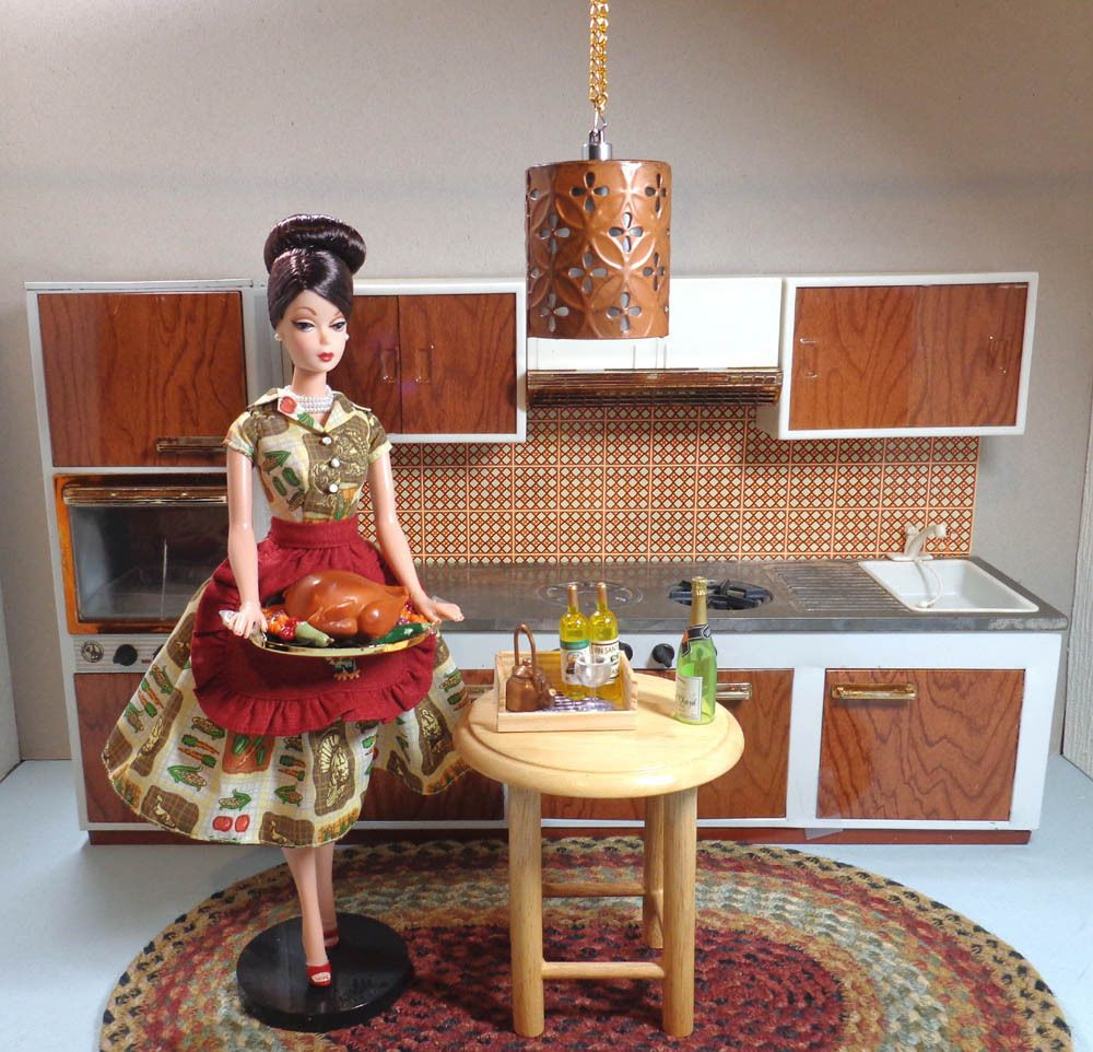 Barbie-Size Metal Doll Kitchen Made by Fuchs of West Germany