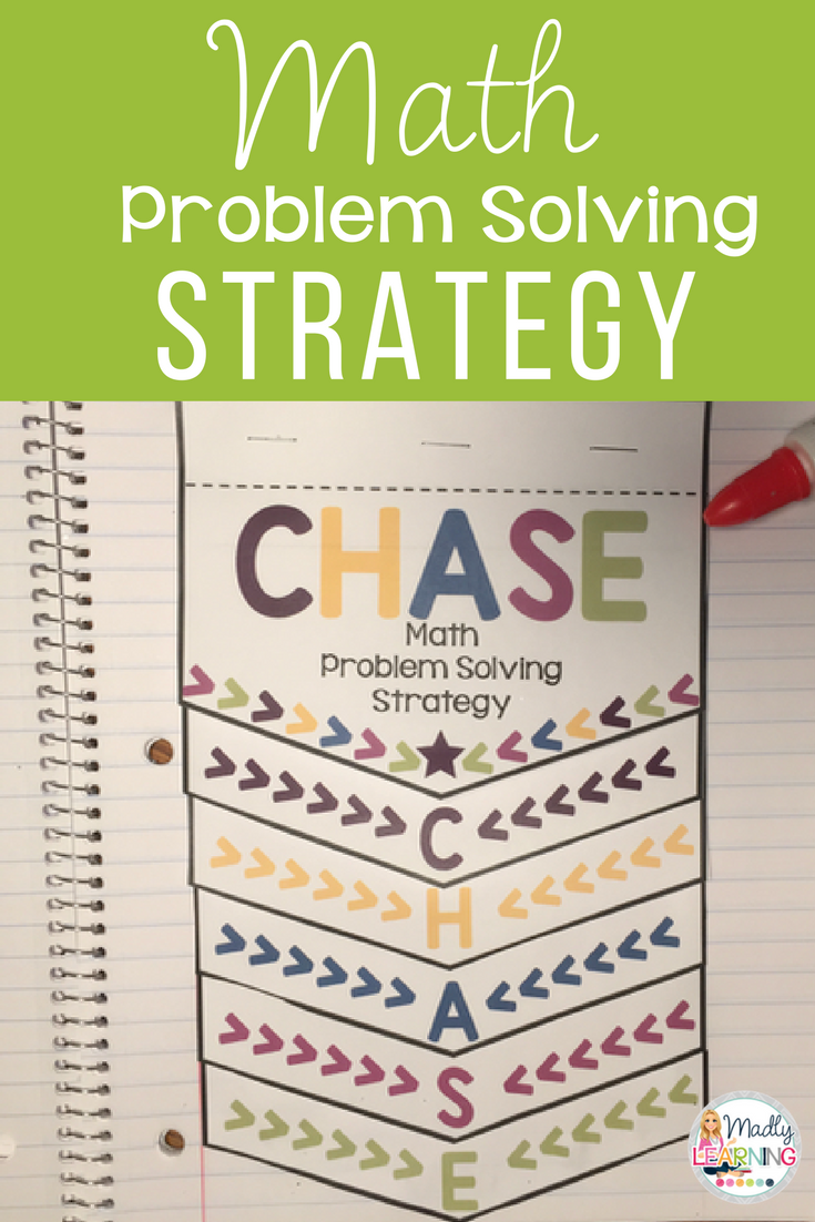 C.H.A.S.E. - Math Problem Solving Strategy | Word problems, Decoding ...