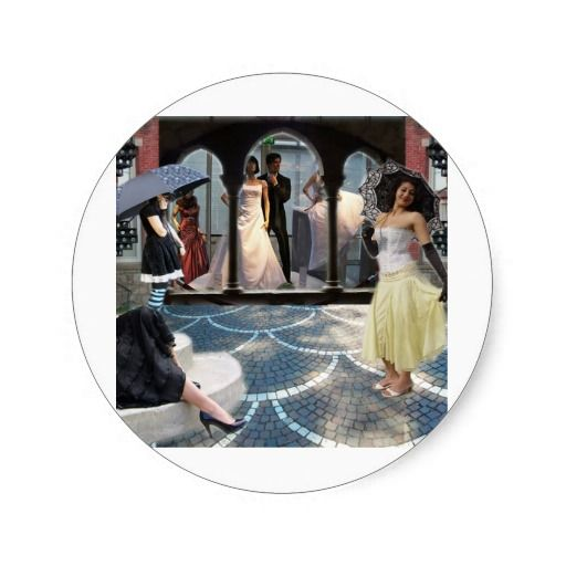 CITY PARASOL ROUND STICKERS