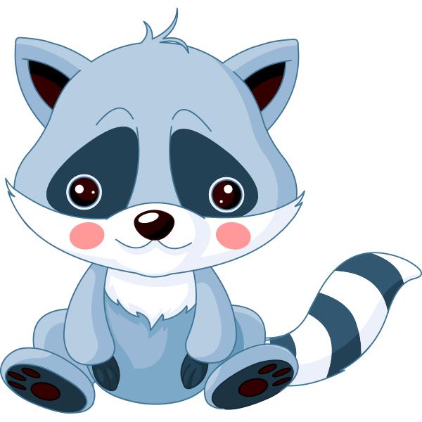 Little Raccoon Raccoon Illustration Cartoon Clip Art Baby Clip Art