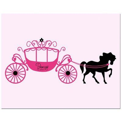 "Princess Carriage Art Print Size: 11"" H x 14"" W by Secretly Designed, http://www.amazon.com/dp/B007VMXS1I/ref=cm_sw_r_pi_dp_ToExsb08474WY"