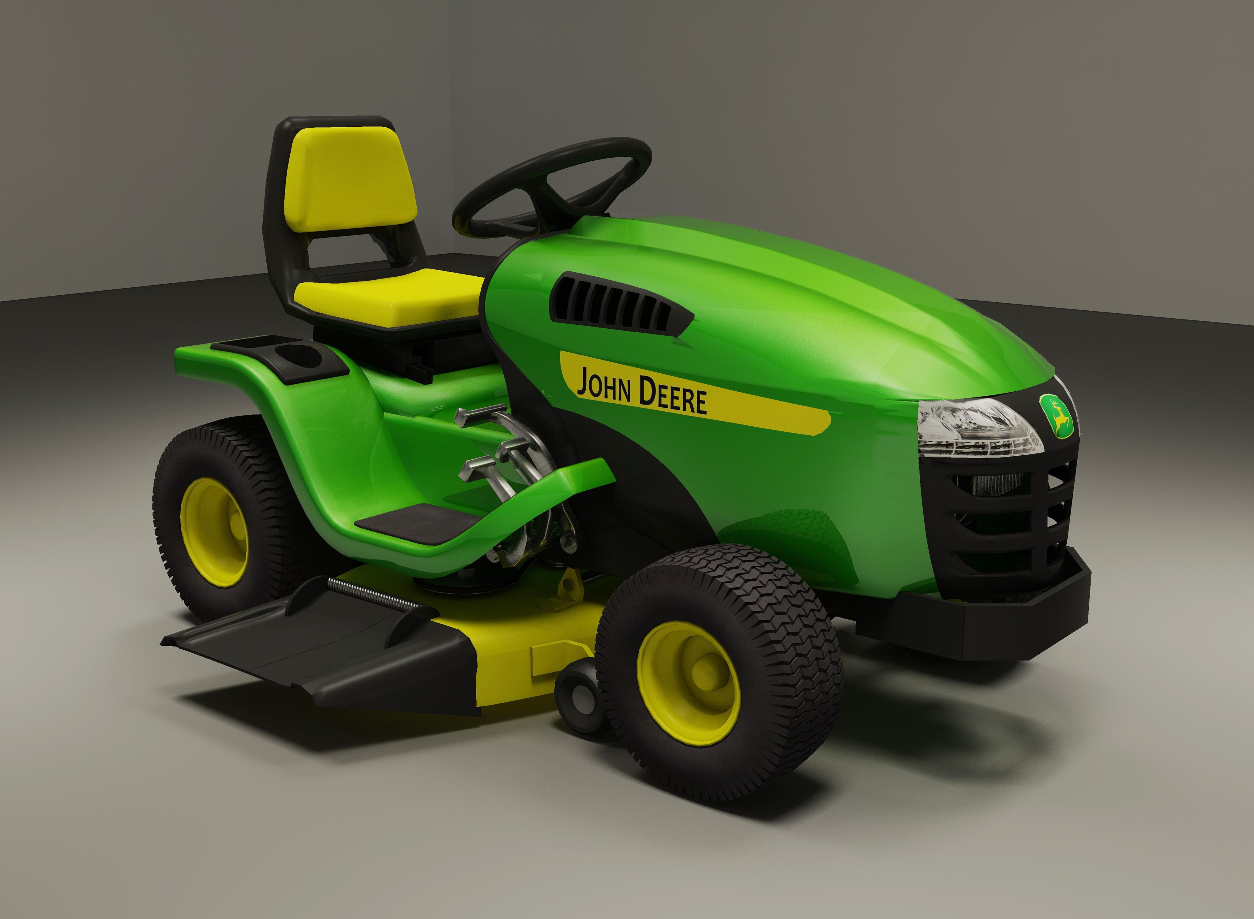 Max Riding Lawn Mower 3D Model 3D Modeling Pinterest