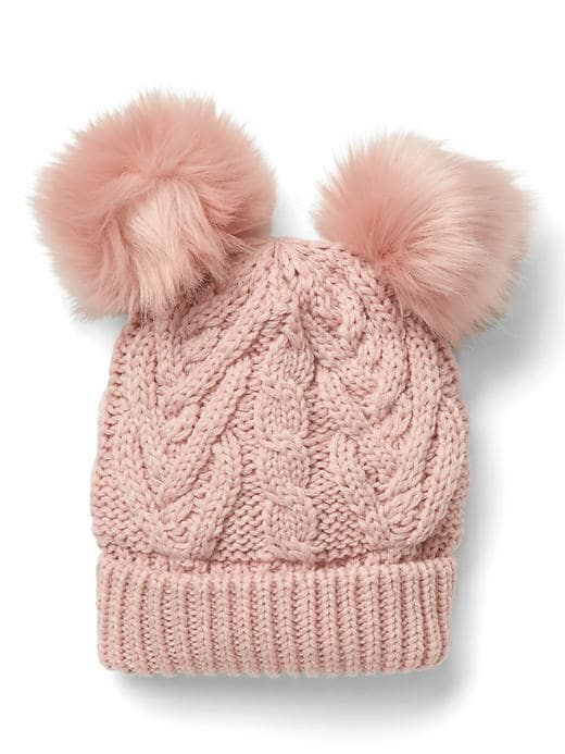 cbbd1e48f Gap Baby Pom-Pom Cable Knit Beanie Pink Standard | Products ...
