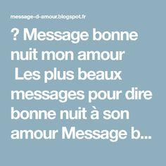 Message Bonne Nuit Mon Amour Les Plus Beaux Messages Pour