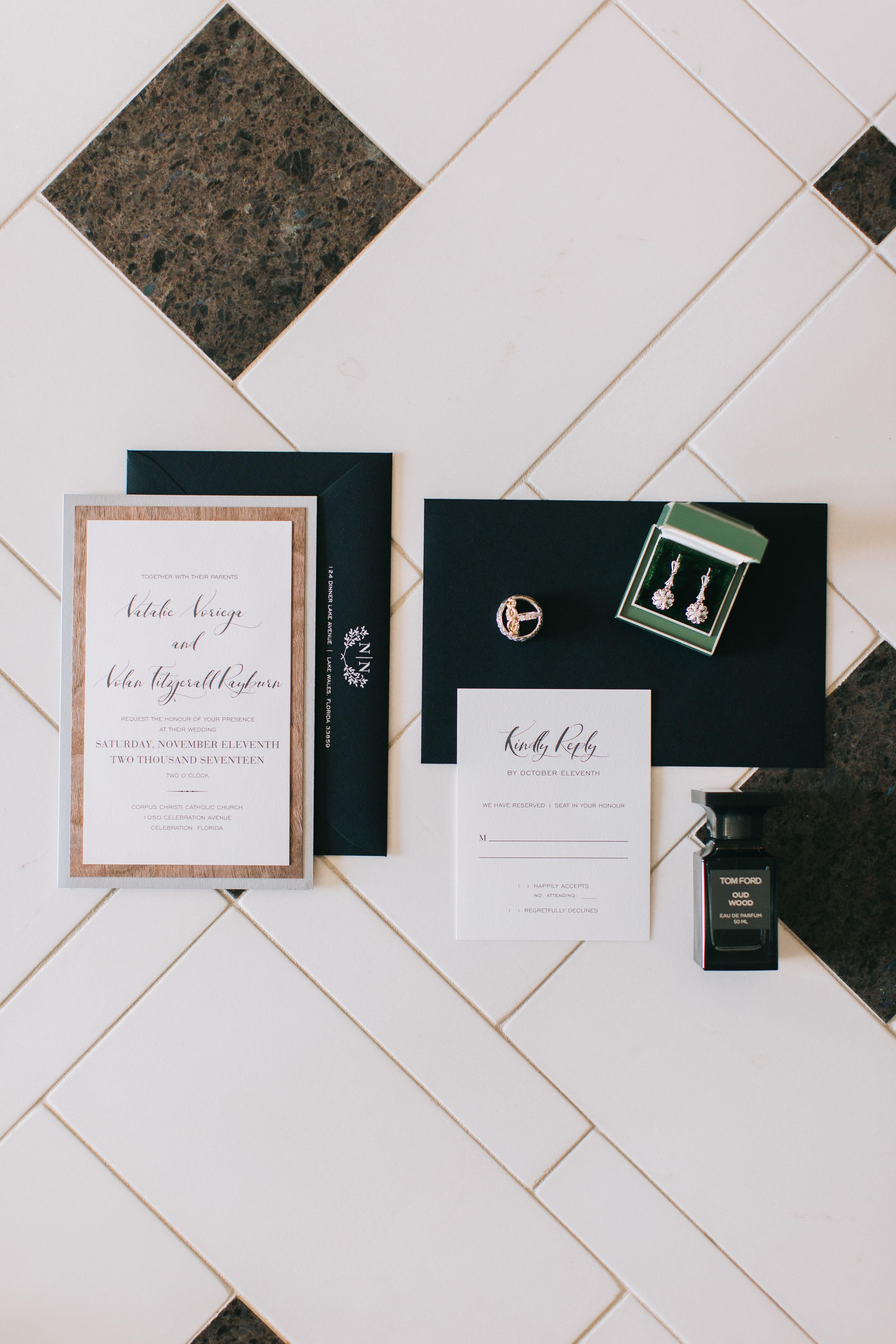 wedding stationary invitations detail