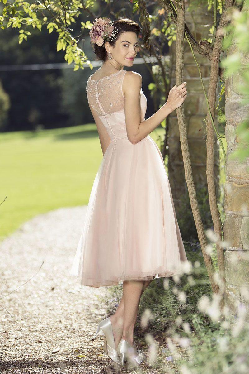 Pink Knee Length Wedding Dresses