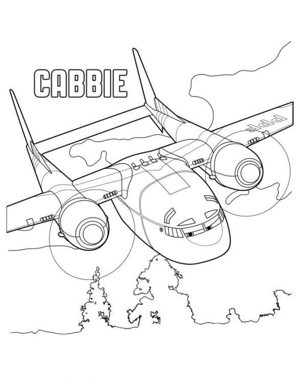 Gratis Kleurplaten Planes.Kleurplaat Planes 2 Cabbie Kid Crafts Disney Planes Disney