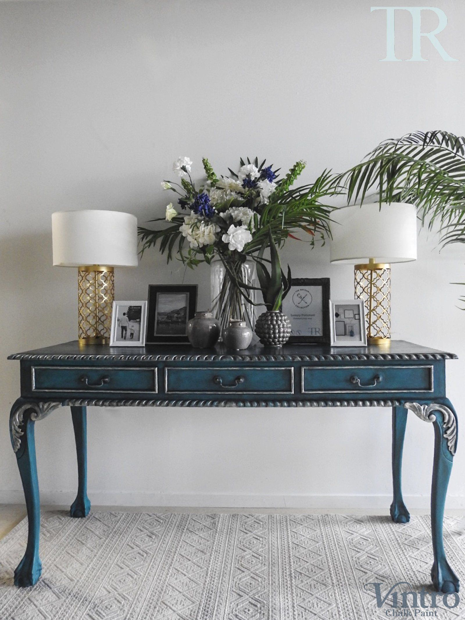 Dyora French Style Console Desk Or Hall Table Hall Table Hallway Table Decor Furniture