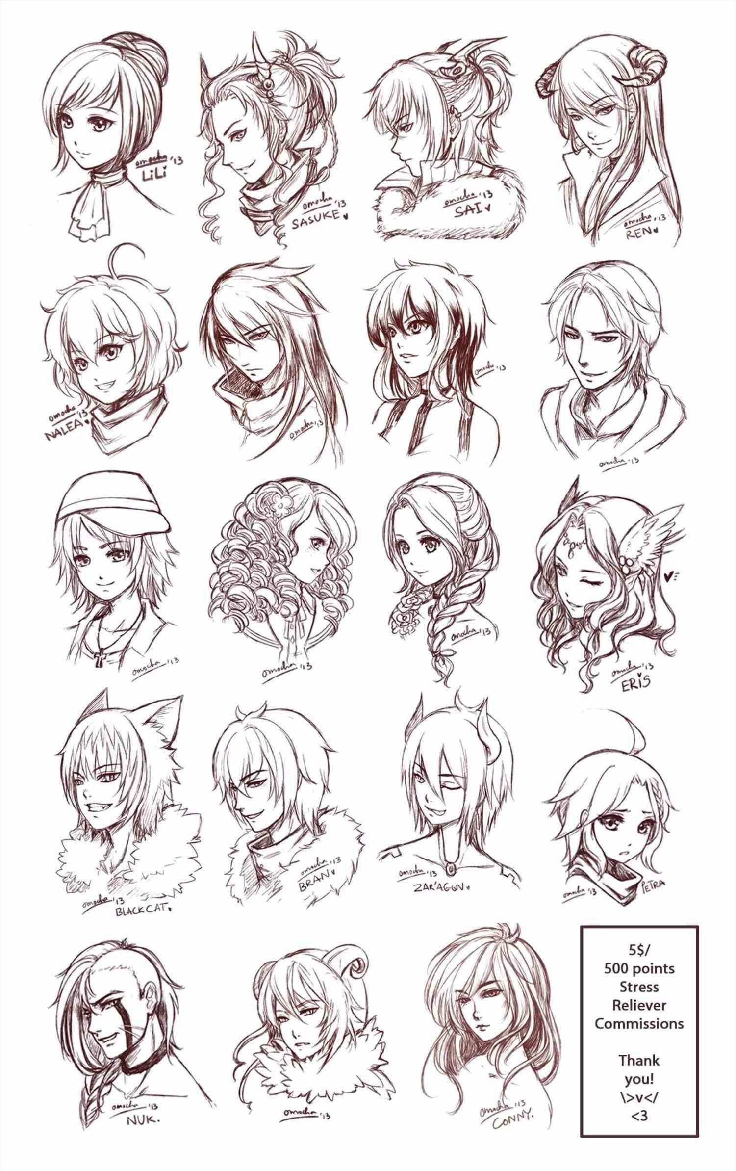 Drawing Short Curly Hair