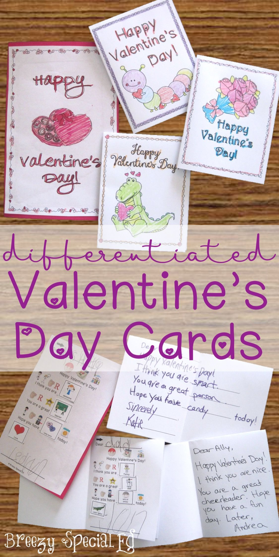 Valentine S Day Cards Differentiated For All Your Special