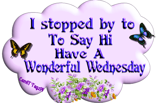 I Stopped By To Say Hi Have A Wonderful Wednesday Days Days Of The