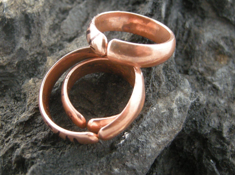 Ring Split Copper Handmade Satin 5 Mm Wide Doomed Comfortable