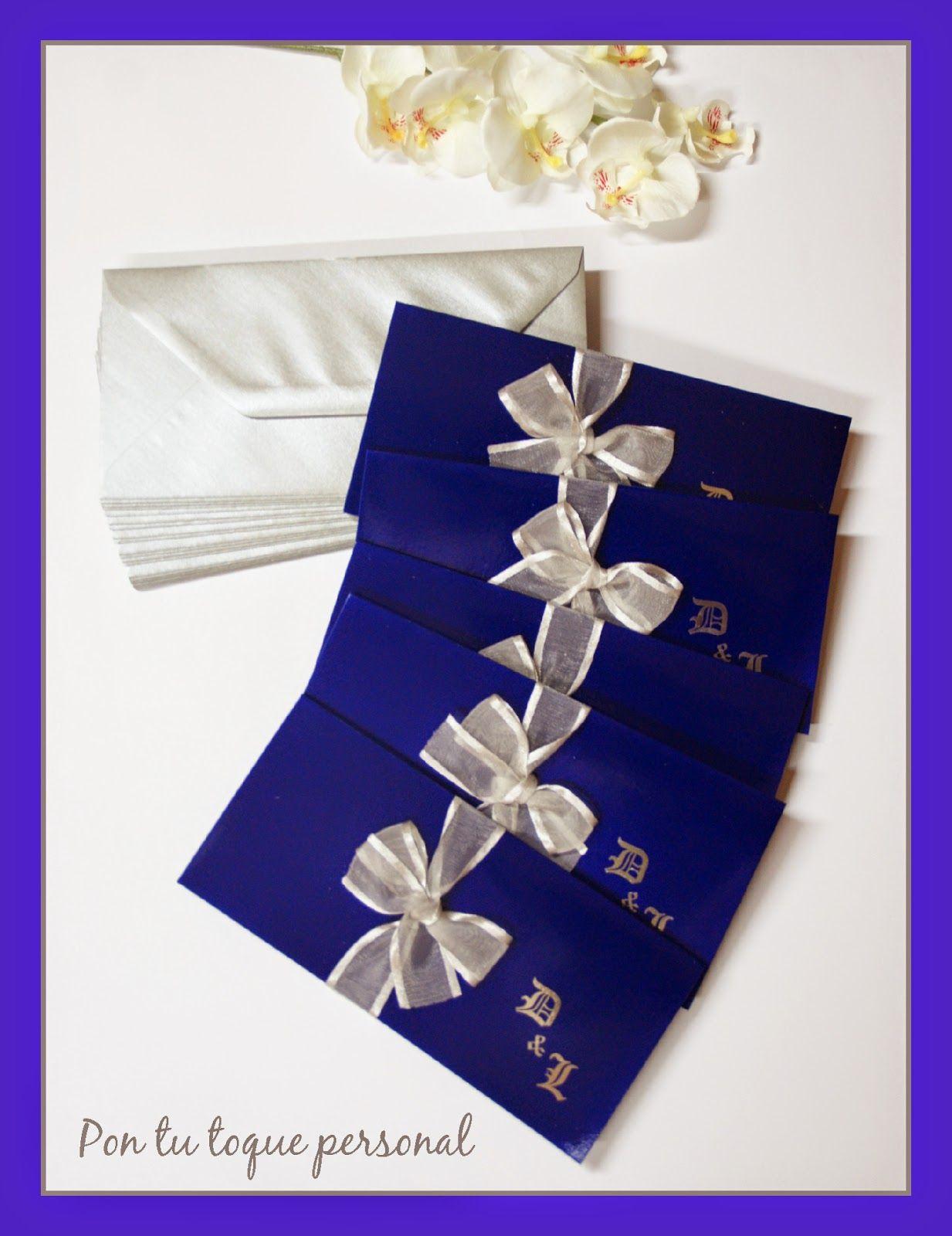 Tarjeta De Boda Azul Rey