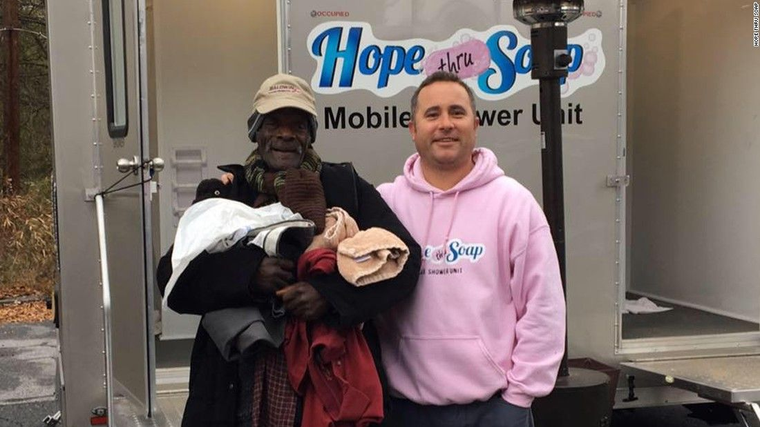 Serving Homeless People With Hope One Shower At A Time Cnn Homeless People People Homeless