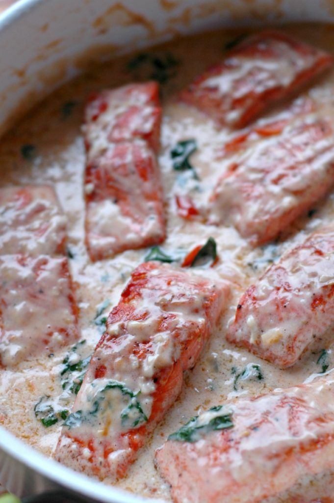Photo of Creamy Garlic Butter Salmon :: Dairy Free Option Included! – Raising Generation Nourished