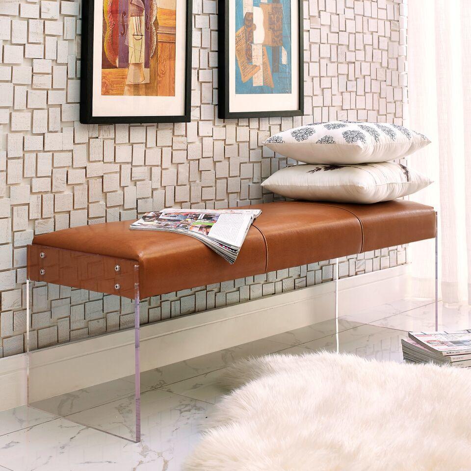 tov furniture envy leather bedroom bench wayfair acrylic bench rh pinterest com