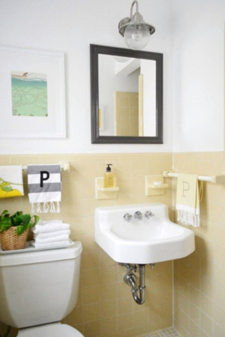 Yellow Tile Bathroom Paint Colors In 2020 Yellow Bathroom Tiles Yellow Bathrooms Trendy Bathroom Tiles