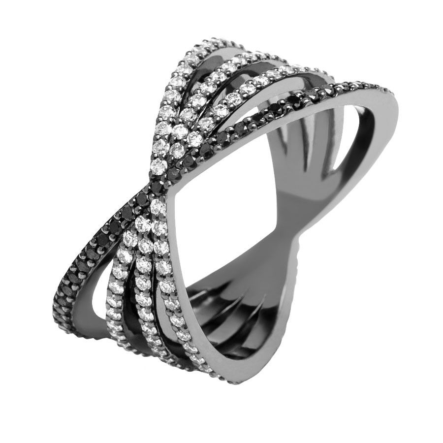 #MelissaKayeJewelry Veronica #ring in #18k black #gold with #diamonds #jewelry…