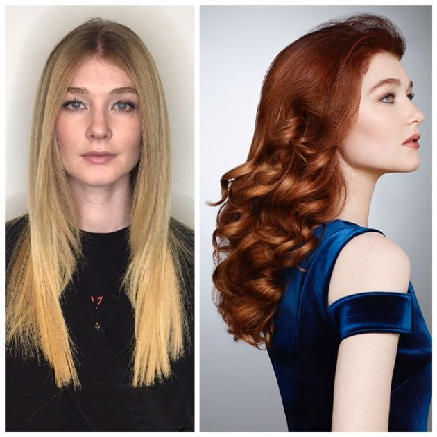 MAKEOVER: From Blonde to Red - Simple Steps For a BIG Change - Hair ...