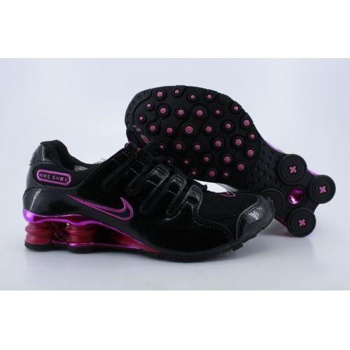 Nike Shox NZ Black Pink Women Shoes $79.59