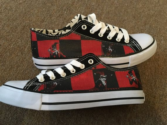 85a13570c37eb1 Women s girl s harley quinn inspired canvas low top shoes