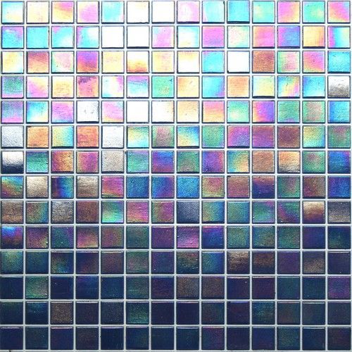 Kaleidoscope Colorglitz Iridescent Gl Mosaic Tile Sold By The 1 15 S F Sheet Broadway Blue