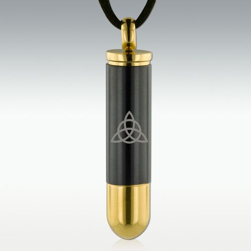 Trinity Gunmetal Bullet Stainless Steel Cremation Jewelry - Considering for Mom's ashes