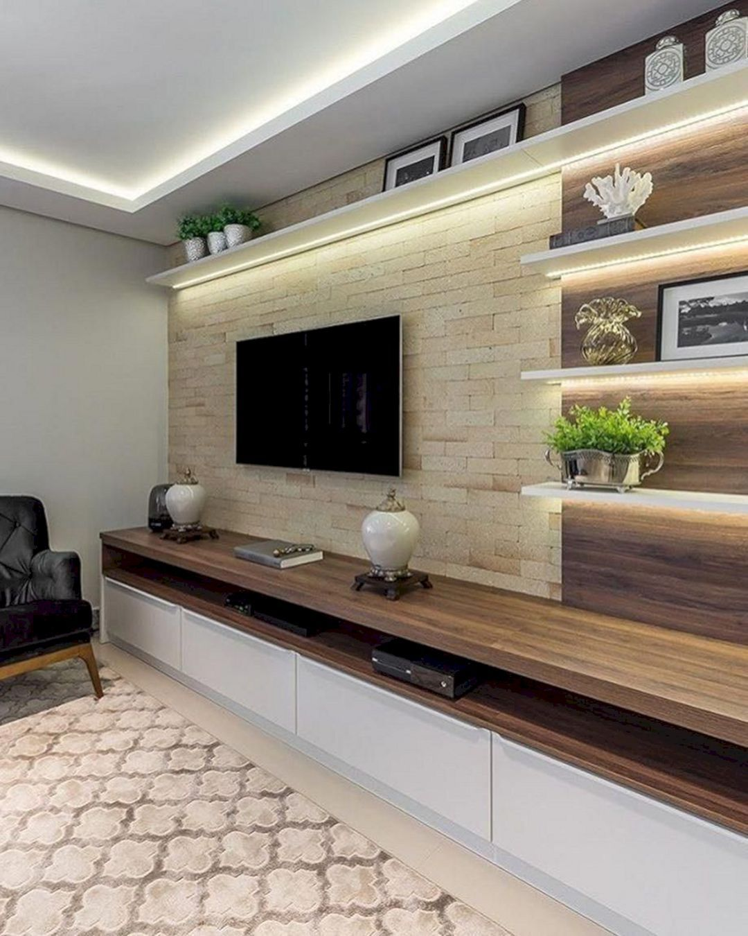 10 Best Modern Tv Wall Ideas For Amazing Home Interiors In 2020 Contemporary Modern Living Room Design Modern Contemporary Living Room Living Room Design Modern