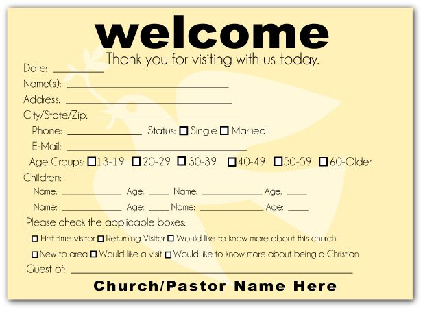 How To Make A Church Welcome Pack Church Visitor Packet Church Church Brochures