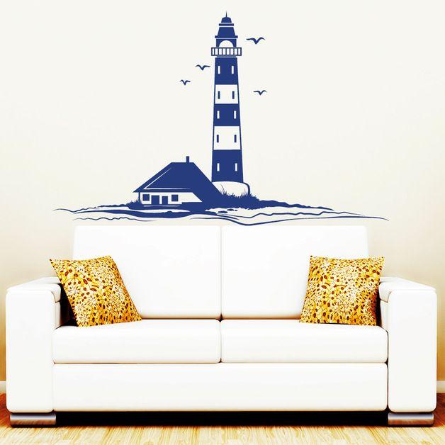 wandtattoo leuchtturm und m wen maritime wohndeko. Black Bedroom Furniture Sets. Home Design Ideas