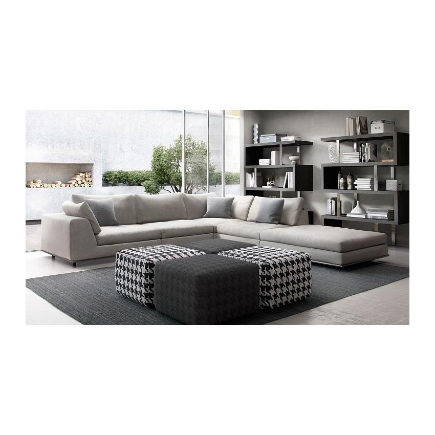 Comfortable Corner Sofa Ideas Perfect For Every Living: Modloft Perry 1 Arm Corner Sectional Sofa