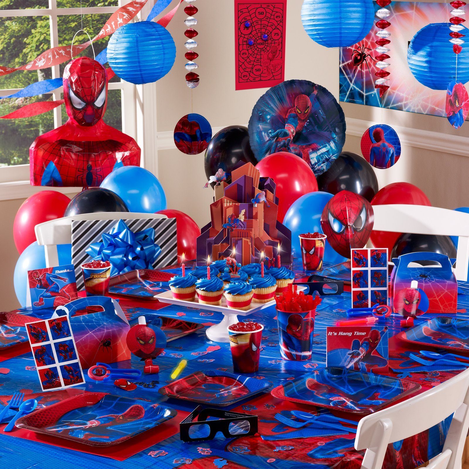 Spiderman theme spiderman party pinterest spiderman for Spiderman decorations