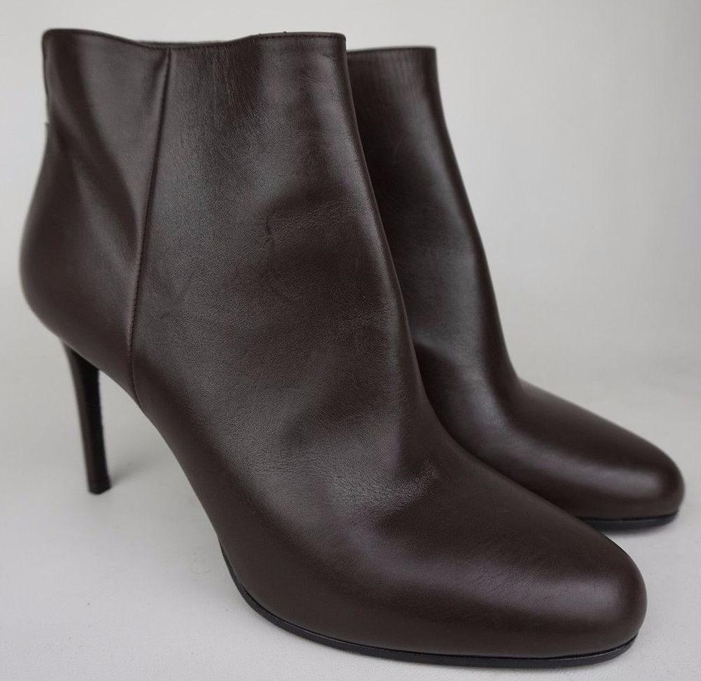 Prada Leather Round- Toe Ankle Boots supply sale online clearance low cost Fsg6a1