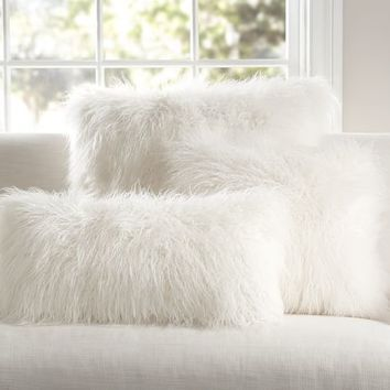 Fur body pillow cover in white Cozy Bedroom Pinterest Fur Enchanting Faux Fur Body Pillow Cover