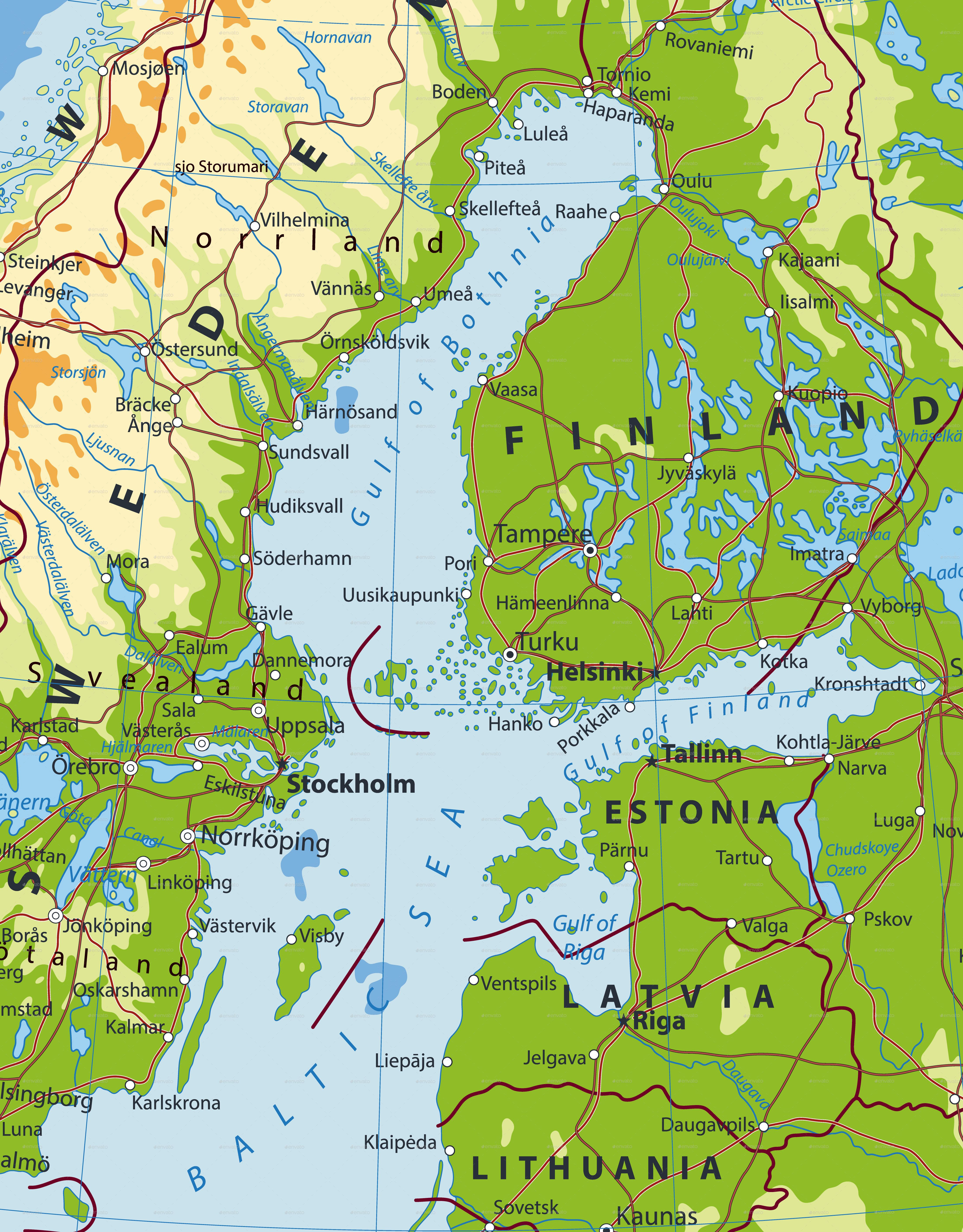 physical map of northern europe Northern Europe Physical Map   Physical map, Map, Physics