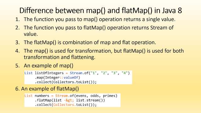 Difference between Map vs FlatMap in Java 8   java   Pinterest ...